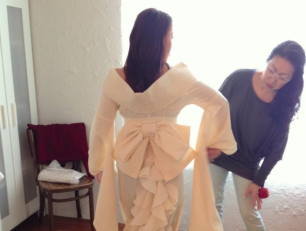 和服作成的晚禮服,新經典誕生!(下)立體打版,精緻度沒有極限!