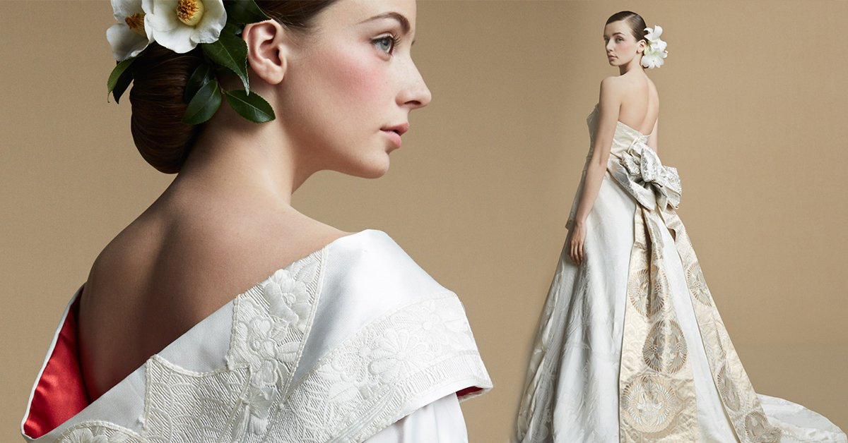 和服作成的晚禮服,新經典誕生!(上)把奶奶的結婚禮服穿上身