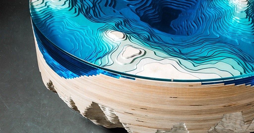 設計居家:美到讓人讚嘆!讓你不需出國潛水就能天天欣賞超美海景的「海洋桌」~