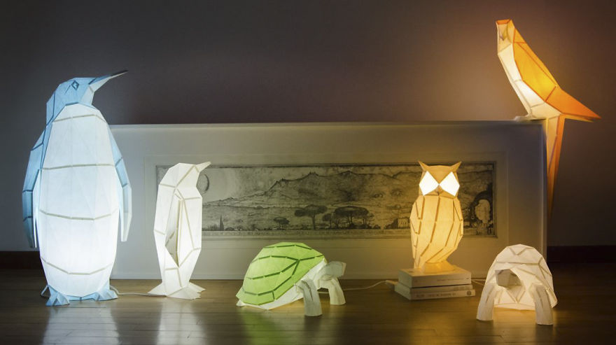 設計居家:建築師玩摺紙藝術,現代極簡風格的 DIY 動物紙燈太美了!