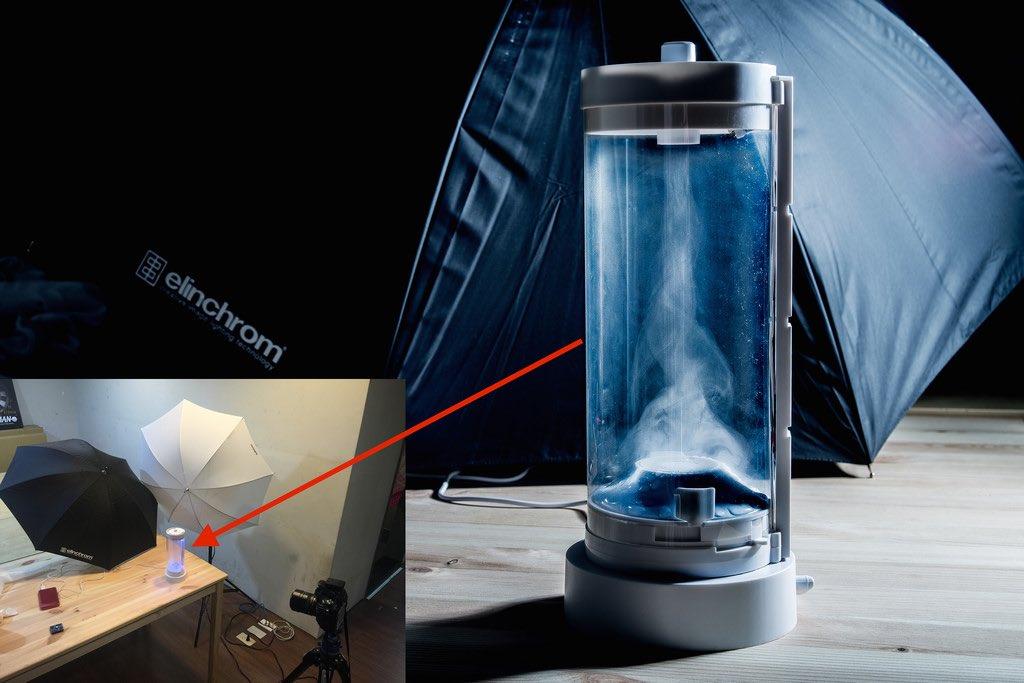 業配文照片這樣拍(三):用閃燈高速凝結的「大人的科學」水龍捲風機