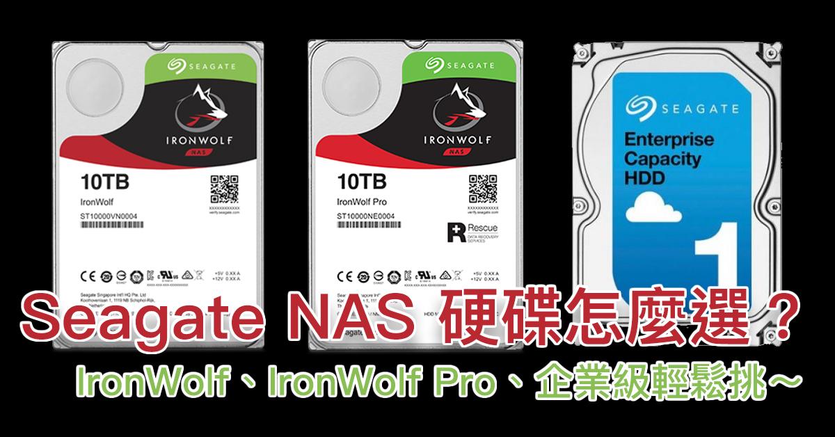 Seagate NAS 硬碟怎麼選?Ironwolf、Ironwolf Pro、企業級三種輕鬆挑~